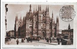 Milano. Il Duomo. Pubblicità Birra Italia Sul Tram. A Destra. - Milano (Milan)