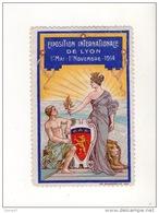 EXPOSITION INTERNATIONALE DE LYON 1er MAI . 1er NOVEMBRE 1914 - Ref. N° 205T - - Erinnophilie