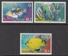 2012 Seychelles Fish Definitive REPRINTS Complete Set Of 3  MNH - Seychelles (1976-...)