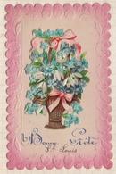 9AL1233 Carte Relief Decoupis  BONNE FETE ST LOUIS 2 SCANS - Feiern & Feste