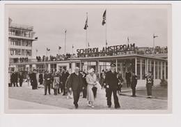 Vintage Rppc KLM K.L.M Royal Dutch Airlines Founder Plesman & Queen Juliana @ Schiphol Amsterdam Airport - 1919-1938: Entre Guerres