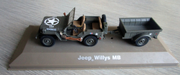 Jeep Willys MB Avec Sa Remorque Bantam - Atlas 1/43 ème - Voitures, Camions, Bus
