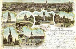 HERFORD, Minden, Ravensberg, Lippe, Mehrbildkarte (1899) Litho-AK - Herford
