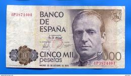 Espagne  5.000 Pesetas 1975 - [ 4] 1975-… : Juan Carlos I