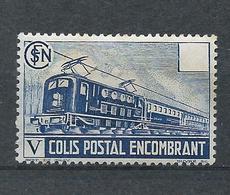 FRANCE - 1941 - Colis Postaux - Y.T. N°182 - 3 F. 50 Bleu - Colis Encombrant - Neuf* - TB - Mint/Hinged