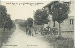 SANTEUIL- Café Restaurant SIMONT-BENOIST  Avenue De La Gare - Autres Communes