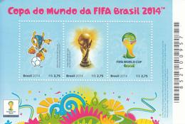 2014 Brazil Brasil World Cup Football  Souvenir Sheet  MNH - Brasile