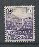 FRANCE - 1941 - Colis Postaux - Y.T. N°181 - 1 F. Violet - Intérêt à La Livraison - Neuf* - TTB - Neufs