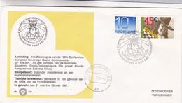 29th CONFERENCE EUROPEAN SOVEREIGN GRAND COMMANDERS OBLITEREE 1981 S'GRAVENAGE NEDERLAND - BLEUP - Periodo 1980 - ... (Beatrix)
