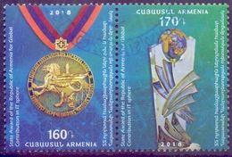 Used Armenia 2018, State Award For Global IT Contribution 2V. - Armenië