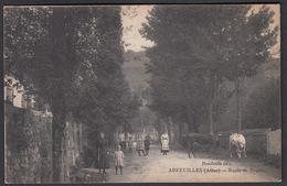 CPA - 03, ARFEUILLES, Route De Roanne - Francia