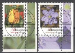 BRD 2484/85 Eckrand Rechts Unten O Sonderstempel Berlin - BRD