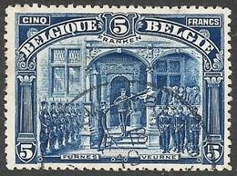 N° 147 Gestempelde 5F FRANKEN Mooie Zegel - 1915-1920 Albert I