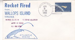 ROCKET FIRED FROM WALLOPS ISLAND VIRGINIA NIKE CAJUN OZONE CLOUD OBLITERE 1962 USA - BLEUP - América Del Norte