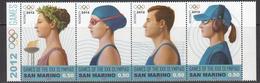 2012 San Marino London 2012 Olympics Complete Strip Of 4 MNH @ BELOW FACE VALUE - San Marino