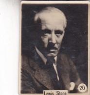 LEWIS STONE. CARD TARJETA COLECCIONABLE TABACO. CIRCA 1920s SIZE 3.5x4.5cm - BLEUP - Personalità