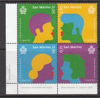 2015 San Marino  Kissing Lips Love  Complete Block Of 4 MNH @ BELOW FACE VALUE - San Marino