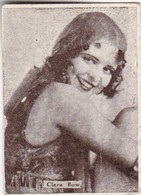 CLARA BOW. CARD TARJETA COLECCIONABLE TABACO. CIRCA 1920s SIZE 3.5x4.5cm - BLEUP - Personalità