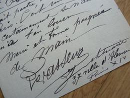 Henri Louis LEVASSEUR (1853-1934) SCULPTEUR. Autographe - Autographes