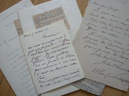 Adrien DIDIER (1838-1924) GRAVEUR Au Burin. AUTOGRAPHE - Autographes