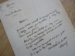 Charles Jean HAREL (1790-1946) Dramaturge - Directeur THEATRE (Odéon ... ) SOISSONS - AUTOGRAPHE - Autographs