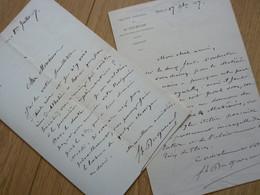 Felix DUQUESNEL (1837-1915) Romancier ... Directeur THEATRE ODEON. 2 X AUTOGRAPHE - Autographes