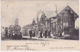 Halte Sint Gerlach, (groet Uit Het Geuldal) Station, Stoomtrein. Veel Mensen. - Pays-Bas