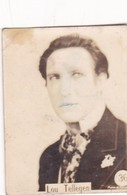 LOU TELLEGEN. CARD TARJETA COLECCIONABLE TABACO. CIRCA 1920s SIZE 3.5x4.5cm - BLEUP - Personalità