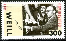 BRD - Mi 2100 - ** Postfrisch (B) - 300Pf          Kurt Weil - Unused Stamps