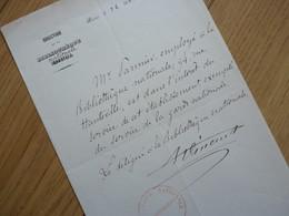 Jules VINCENT (1871) Administrateur BIBLIOTHEQUE NATIONALE Commune PARIS. AUTOGRAPHE - Autographes