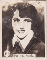 PAULINE STARKE. CARD TARJETA COLECCIONABLE TABACO. CIRCA 1920s SIZE 3.5x4.5cm - BLEUP - Personalità