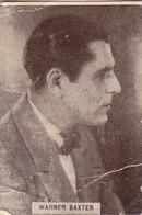 WARBER BAXTER. CARD TARJETA COLECCIONABLE TABACO. CIRCA 1940s SIZE 3.5x4.5cm - BLEUP - Personalità