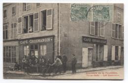 57 - VIC-SUR-SEILLE - SOUVENIRS DE LA FRONTIERE - CAFE GROSMANGIN - BEAU PLAN - BON ETAT - VOIR ZOOM - Vic Sur Seille