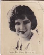 MARY BRIAN. SUPER. CARD TARJETA COLECCIONABLE TABACO. CIRCA 1940s SIZE 4.5x5.5cm - BLEUP - Personalità