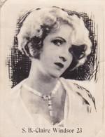 CLAIRE WINDSOR. SUPER. CARD TARJETA COLECCIONABLE TABACO. CIRCA 1940s SIZE 4.5x5.5cm - BLEUP - Personalità