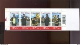 Belgie Boekje Carnet 2005 B57 PLAATNUMMER 1 MUSIC Fanfare Copper Horns Instruments Bugle Trumpet Clarinet Tuba - Booklets 1953-....