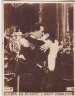 LAURA LA PLANTE Y PATT O MALLEY. SUPER. CARD TARJETA COLECCIONABLE TABACO. CIRCA 1940s SIZE 4.5x5.5cm - BLEUP - Personalità