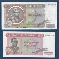 ZAÏRE - 2 Billets - Zaire