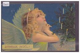 JOYEUX NOEL - ANGE - CARTE EN RELIEF - PRÄGE KARTE - TB - Natale