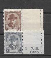 1935 MNH Tschechoslowakei - Czechoslovakia