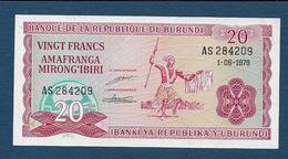 BURUNDI - 20 Fr  1979 - Burundi