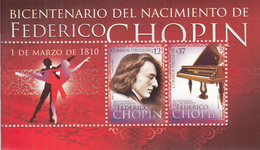 2010 Uruguay Music Chopin Piano Souvenir Sheet   Complete  MNH - Muziek