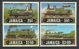 JAMAICA 1984 TRAINS,LOCOMOTIVES SET MNH - Trains