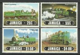 JAMAICA 1985 TRAINS,LOCOMOTIVES SET MNH - Trains