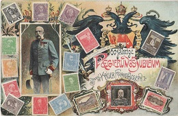Philatelie Litho AK Österreich 60 Regierungsjubiläum 1908 Kaiser Franz Joseph I Briefmarke Stamp Timbre Austria Autriche - Briefmarken (Abbildungen)