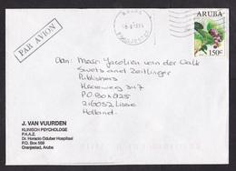 Aruba: Airmail Cover To Netherlands, 1995, 1 Stamp, Plant, Berries (minor Crease) - Niederländische Antillen, Curaçao, Aruba