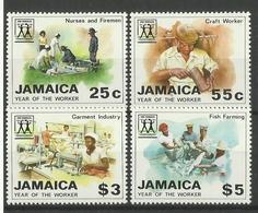JAMAICA 1988 YEAR OF THE WORKER SET MNH - Jamaica (1962-...)