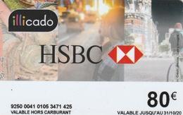 ## Carte  Cadeau  ILLICADO  HSBC   31.10.20  ##    Gift Card, Giftcart, Carta Regalo, Cadeaukaart - Cartes Cadeaux