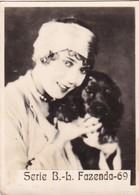 L. FAZENDA. SUPER. CARD TARJETA COLECCIONABLE TABACO. CIRCA 1940s SIZE 4.5x5.5cm - BLEUP - Personalità