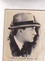 KENNETH HARLAN. CARD TARJETA COLECCIONABLE TABACO. CIRCA 1940s SIZE 4.5x5.5cm - BLEUP - Personalità